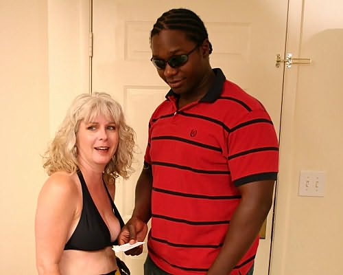 Milf blonde Stacey fucking black dude from Milfs Wild Holiday